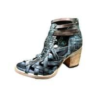 Freebird Sandal Womens Penny Strap Distressed Open Toe Blue