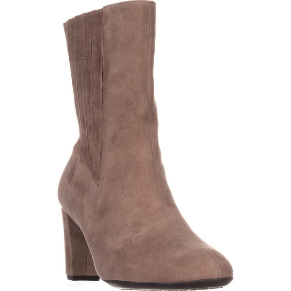 Aerosoles Fifth Ave Mid Calf Boots, Taupe Suede - 8 us