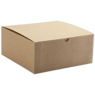 3.5 x 8 x 8 in. One-Piece Gift Boxes, Kraft