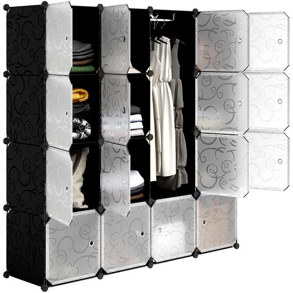 Langria 16 Cube Diy Portable Closet Wardrobe Organizer Storage System