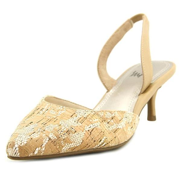 Impo Elina Too Women Pointed Toe Canvas Tan Slingback Heel