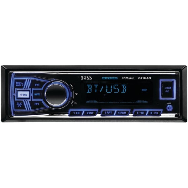 BOSS AUDIO 611UAB Single-DIN In-Dash Mechless AM/FM Receiver (With Bluetooth(R))