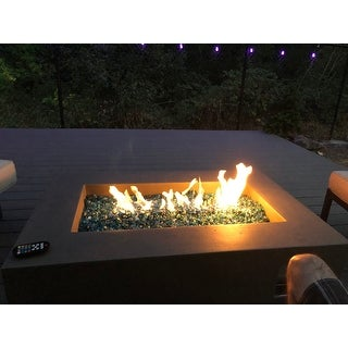 Real Flame Baltic Rectangle Natural Gas Fire Table Gray