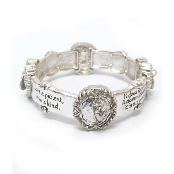 shop religious inspiration message stretch bracelet 1 cor 13 on