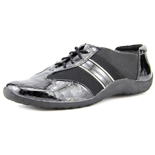 Ros Hommerson Nancy Women Black Croc Patent/Pewter Sneakers Shoes