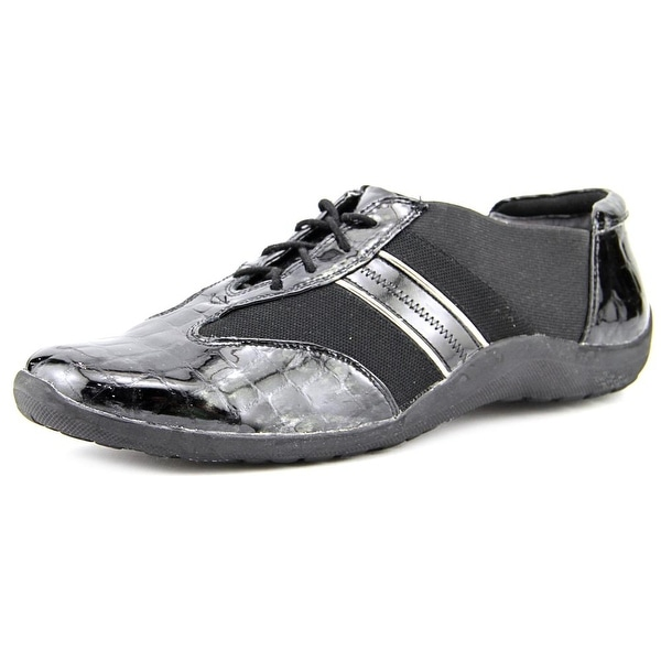 Ros Hommerson Nancy Women Black Croc Patent/Pewter Sneakers Shoes