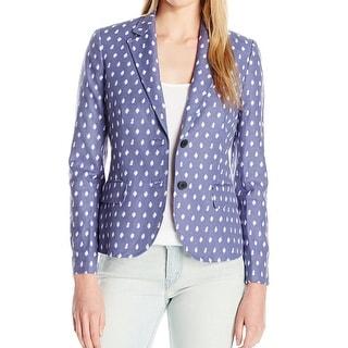 Anne Klein NEW Blue Atlantic Women's Size 4 Two-Button Jacquard Jacket