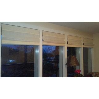 Arlo Blinds Ivory Cordless Lift Fabric Roman Light Filtering Shades
