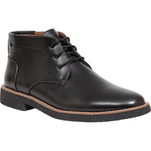 Deer Stags Men's Bangor Chukka Boot Black/Black Simulated Leather