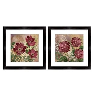 """PTM Images 1-32899 18 Inch x 18 Inch """"Purple Penny"""" Two Piece Framed Giclee Art Print Encased In Glass - N/A"""