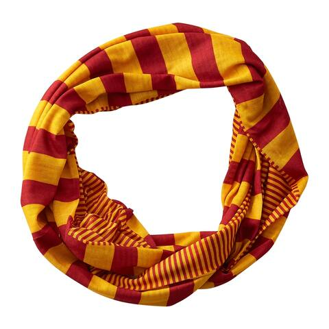 Tickled Pink Gameday Stripes Infinity Scarf
