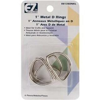 "Nickel - Ez Quilting D-Rings 1"" 6/Pkg"