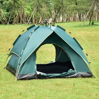 Gymax Waterproof 2-3 Person Camping Tent Hydraulic Automatic Instant Hiking w/ Bag