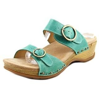 Dansko Manda Open Toe Leather Slides Sandal