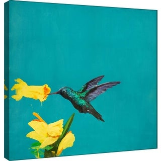 """PTM Images 9-100884  PTM Canvas Collection 12"""" x 12"""" - """"Hummingbird Snack II"""" Giclee Birds Art Print on Canvas"""