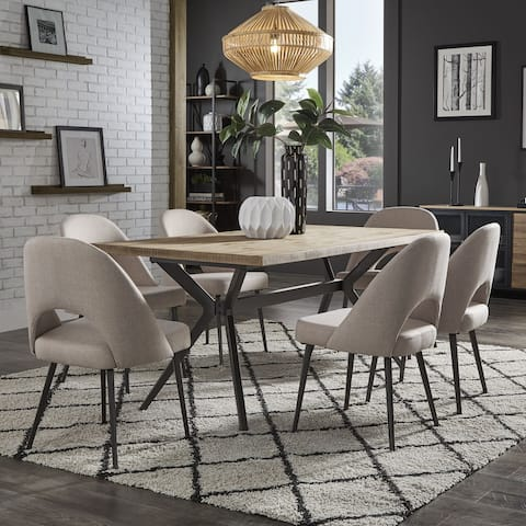 Presley Black Finish Light Pine Dining Table by iNSPIRE Q Modern