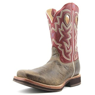 Twisted X Horseman 12'' Men 2E Square Toe Leather Red Western Boot