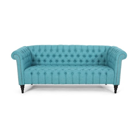 Barneyville Traditional Tufted Chesterfield Sofa by Christopher Knight Home