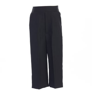 Boys Black Elastic Special Occasion Long Dress Pants 8-14