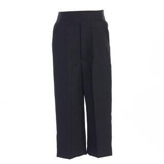 Little Boys Black Elastic Special Occasion Long Dress Pants 2T-7