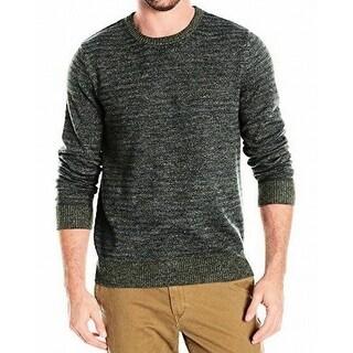 Nautica NEW Green Mens Size Medium M Crewneck Longsleeve Stripe Sweater