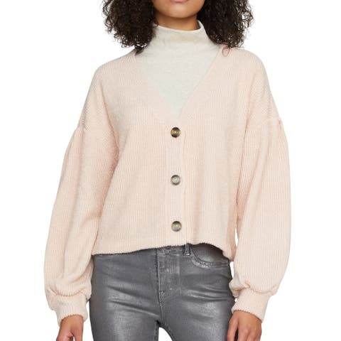 Sanctuary Women's Cardigan Pink Size Small S Button Front Bishop Sleeve