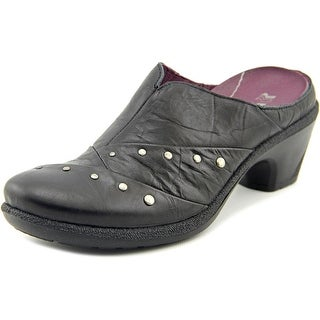 Romika Lyon 06 Women Round Toe Leather Black Mules