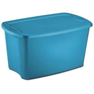 Sterilite 18354306 30 Gallon Blue Storage Tote, Pack of 6