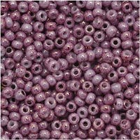 Toho Round Seed Beads 11/0 1202 'Marbled Opaque Pink/Pink' 8 Gram Tube