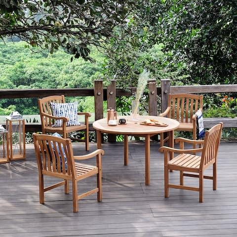 Leon 5-piece Teak Dining Set by Havenside Home