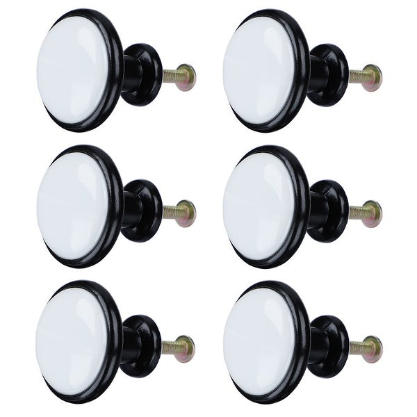 6pcs Ceramic Knobs European Modern Knob Drawer Pull Handle Furniture Kitchen Cabinet Cupboard Wardrobe Dresser Decorative #1