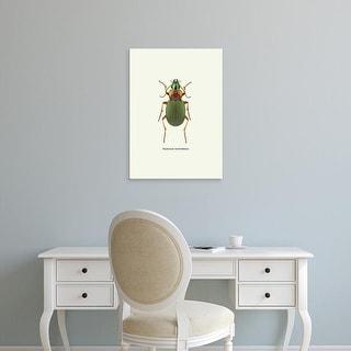 Easy Art Prints GraphINC's 'Beetle Green' Premium Canvas Art