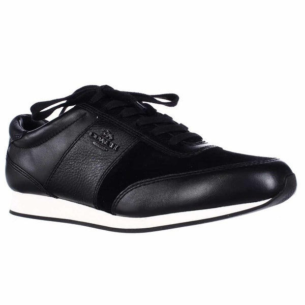 Coach Raylen Fashion Sneakers, Black/Black