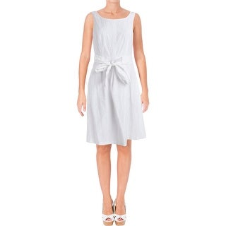 Nine West Womens Sundress Burnout Sleeveless