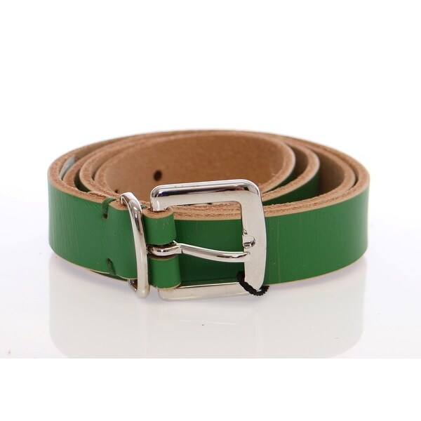 Dolce & Gabbana Green Leather Logo Belt