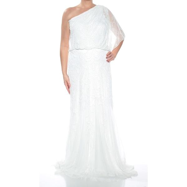 Shop Womens Ivory Full Length Blouson Formal Dress Size 14 Free