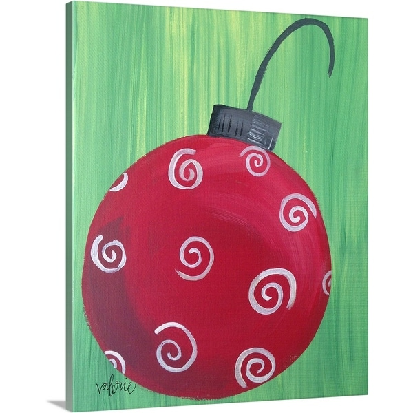 """""""Red Ornament"""" Canvas Wall Art"""