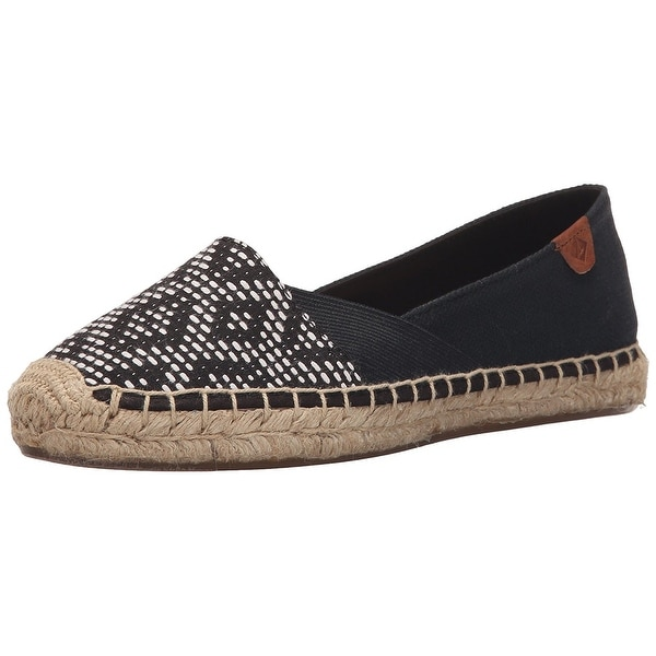 Sperry Womens Katama Canvas Closed Toe Espadrille Flats