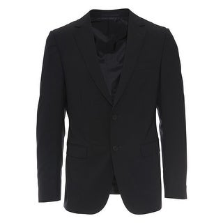 Zegna Mens Navy Blue Wool Blend Two Piece Suit
