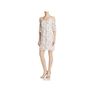 Soloiste Womens Party Dress Floral Lace Trim