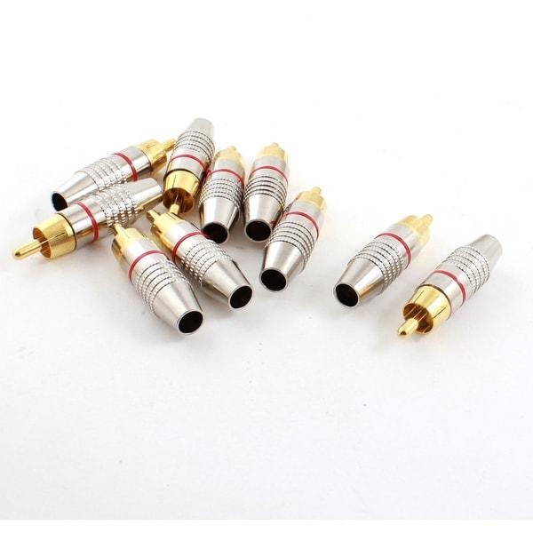 10pcs Repairing RCA Male Plug Audio Video Coaxial Coax Cable Connectors Adapters