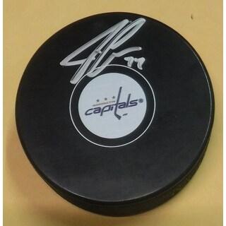 John Carlson Autographed Washington Capitals Hockey Puck JSA