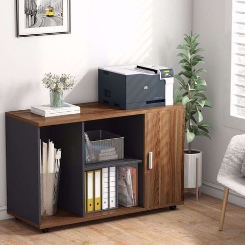 39 inches File Cabinet, Office Storage Cabinet with Wheels