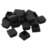 Shop 38mm x 38mm Furniture Fittings Black Plastic Square
