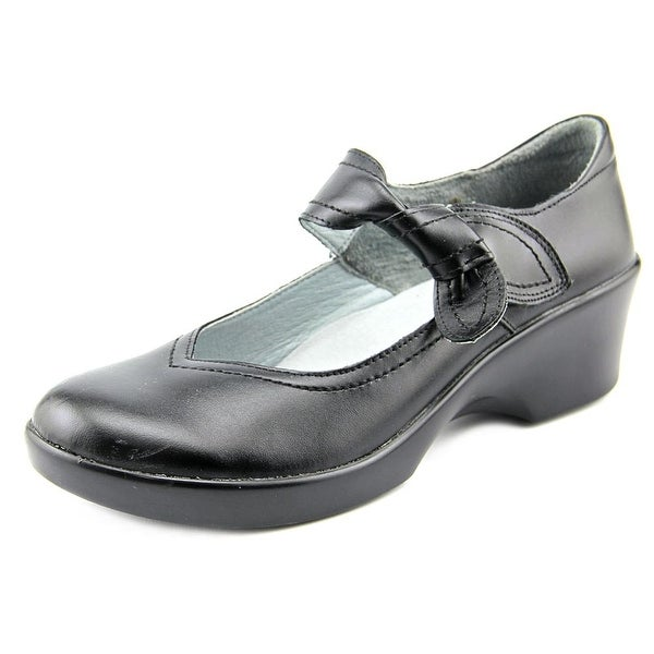 Alegria Ella Women Round Toe Leather Black Mary Janes