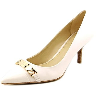 Coach Bowery Women Pointed Toe Leather White Heels