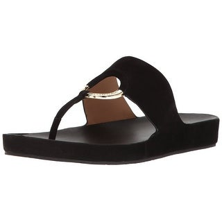 Calvin Klein Womens Mali Open Toe Casual Slide Sandals
