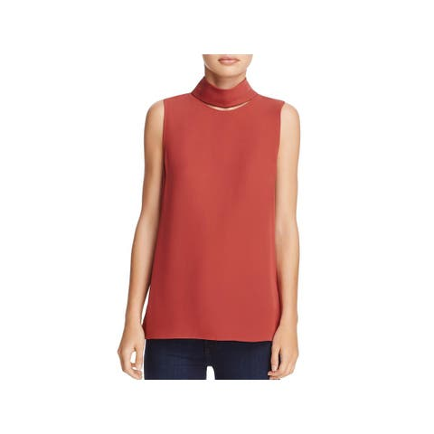Theory Womens Dress Top Silk Cut-Out