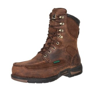 "Georgia Boot Work Mens 8"" Athens Waterproof Leather Brown G9453"