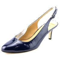 Vaneli Luella Women  Pointed Toe Patent Leather Blue Slingback Heel